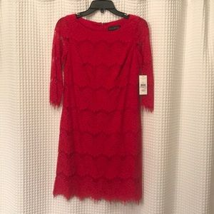 NWT Jessica Howard Red Lace Dress